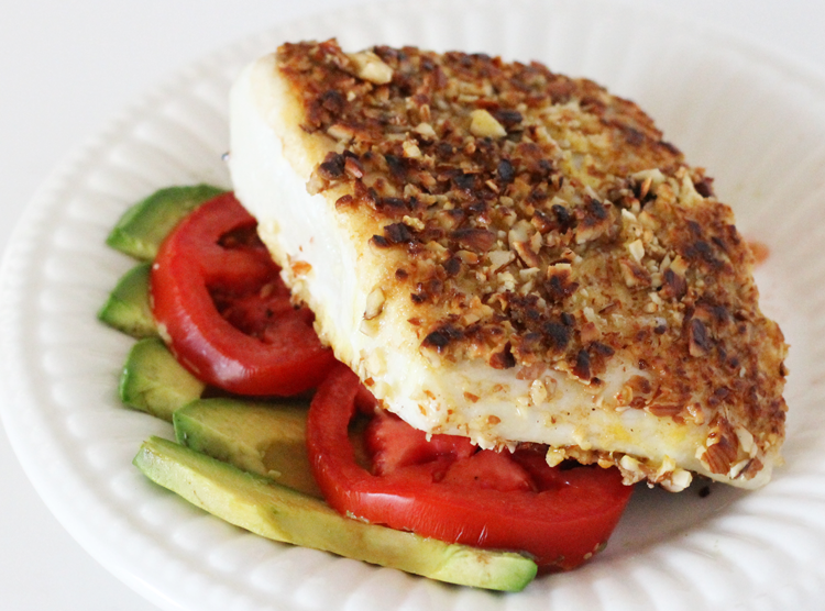 Almond-Crusted Halibut Recipe — Dishmaps