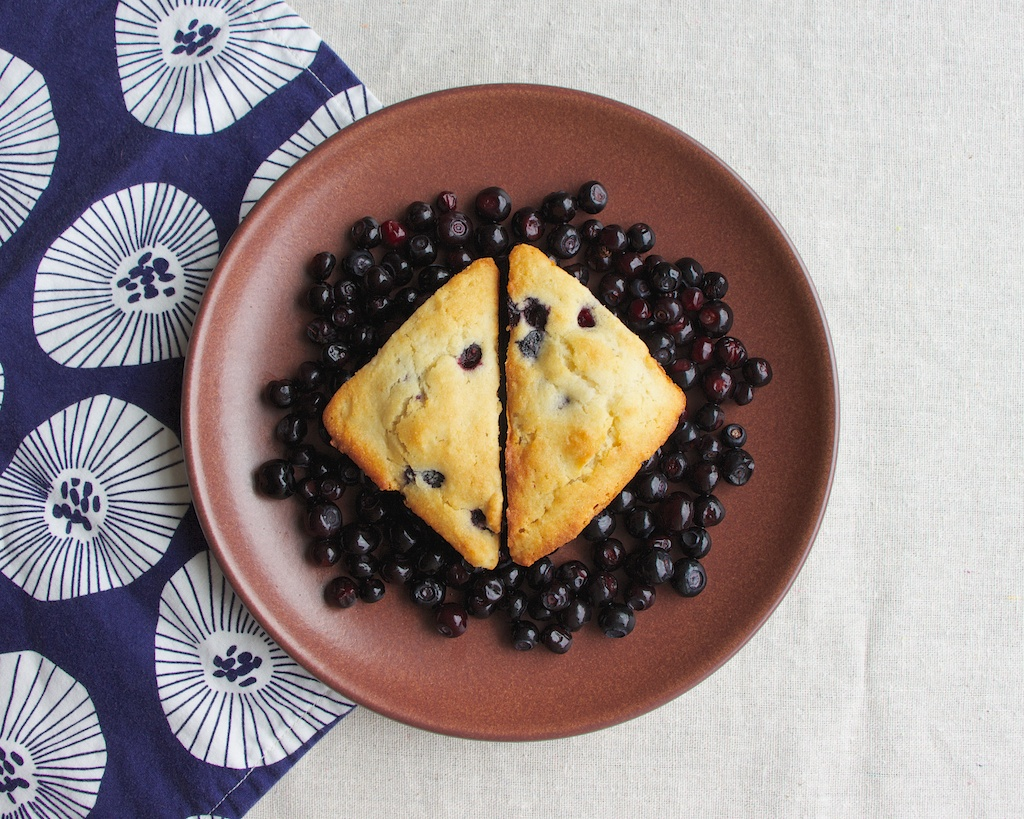 Huckleberry Yogurt Scones