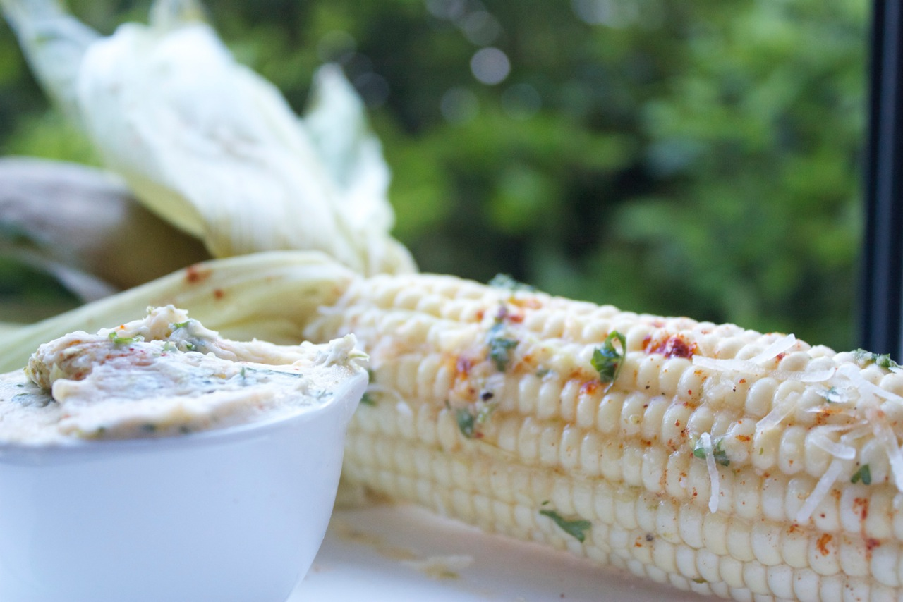 Herb Butter on Sweet Summer Corn