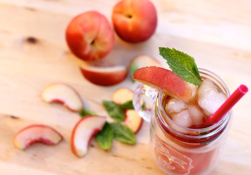 Peach Tea with Mint