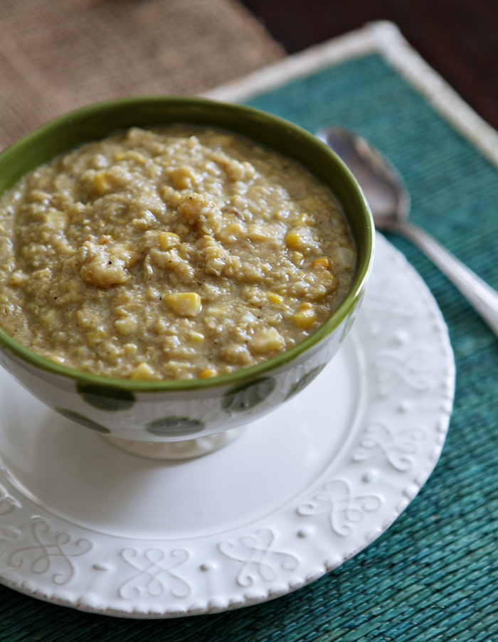 Summertime Corn Chowder // Erin Skinner from The Speckled Palate for My Cooking Spot