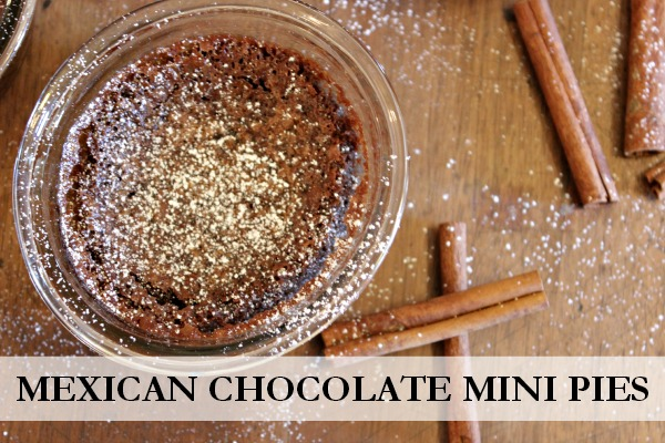 Delicious chocolate pies with a little twist of chili powder and cinnamon!