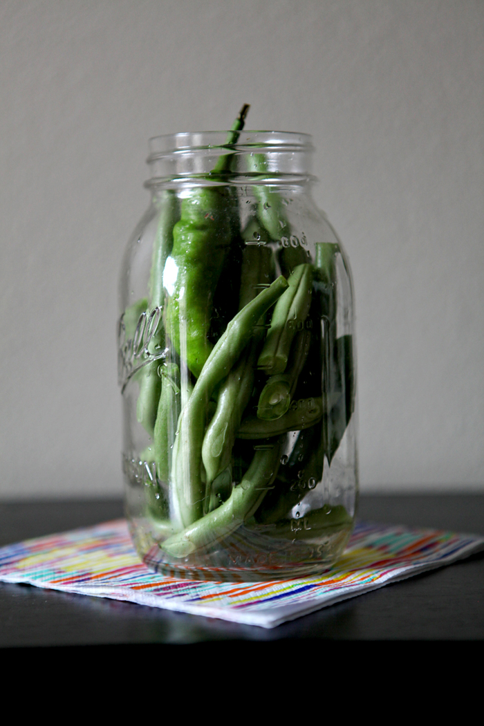 Pickled Green Beans // Erin Skinner from The Speckled Palate for My Cooking Spot
