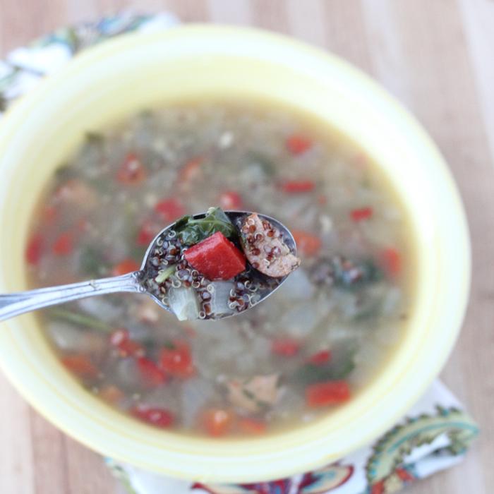 Sausage Veggie Quinoa Soup1