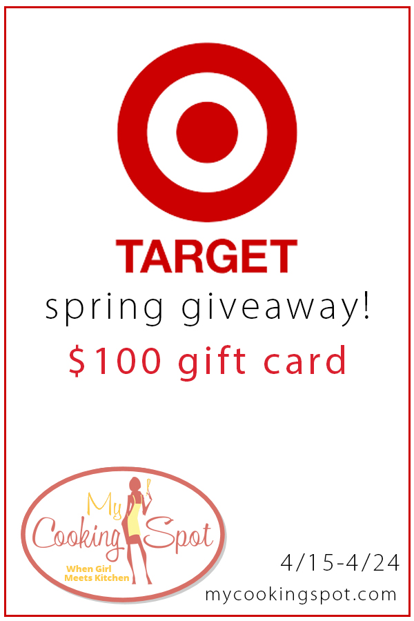 $100 Target Gift Card Giveaway // The Speckled Palate with My Cooking Spot contributors