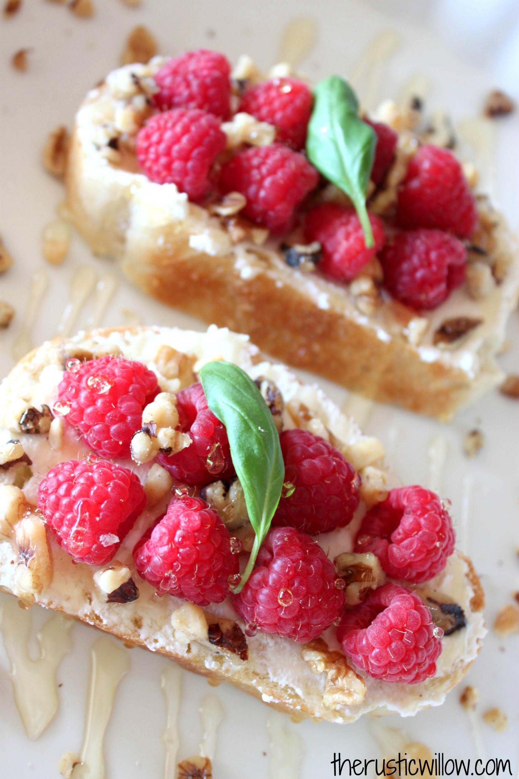 Raspberry crostini w ricotta honey walnut - Growing french walnuts for a profit ...