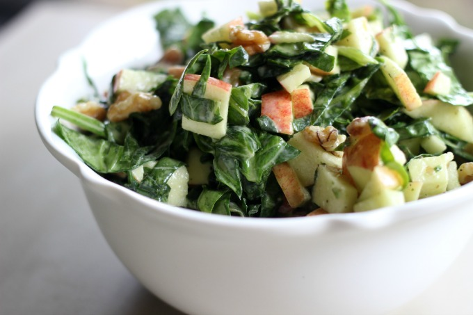 spinach apple slaw salad