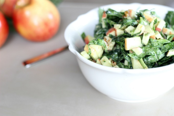 spinach apple slaw