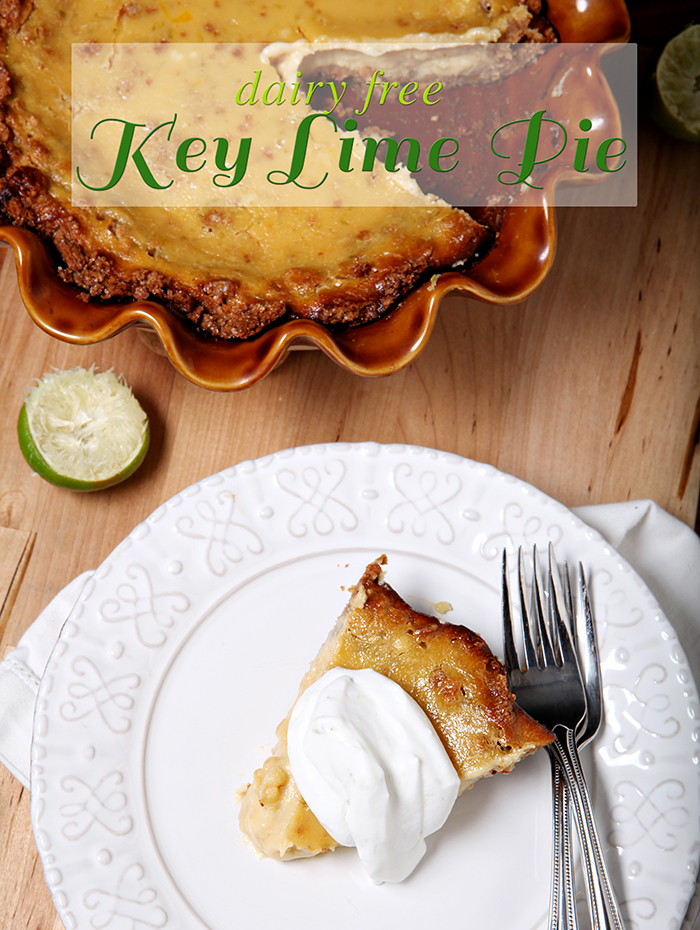 {Dairy Free} Key Lime Pie | Summertime is here, and who doesn't love a good 'ol key lime pie for dessert as the days swelter? Surprise your dairy free friends with this delightfully creamy {Dairy Free} Key Lime Pie! It's so good that folks who aren't dairy free enjoy it, too! @speckledpalate for @mycookingspot