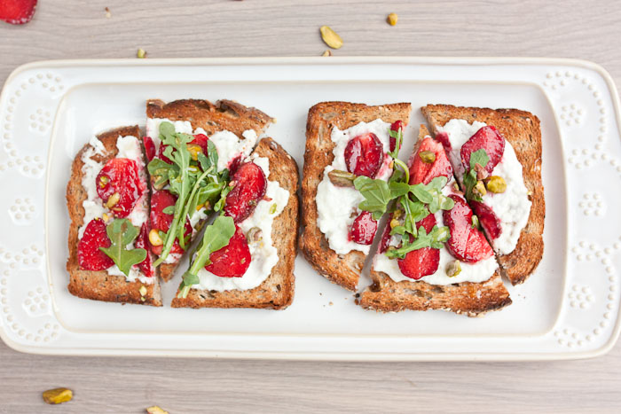 Strawberry Goat Cheese Toast