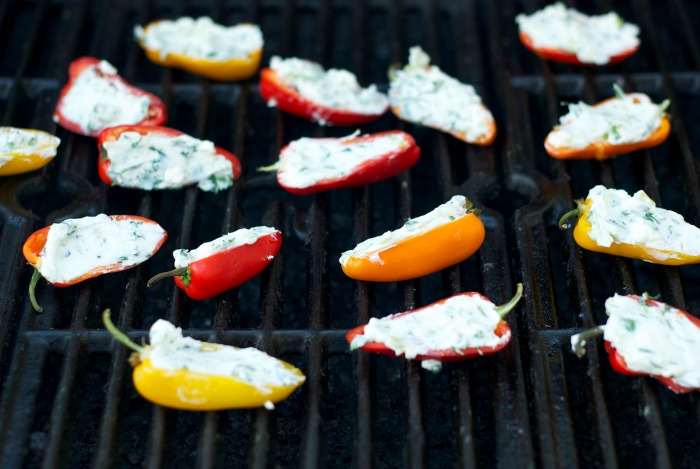 Grilled & Stuffed Mini Bell Peppers