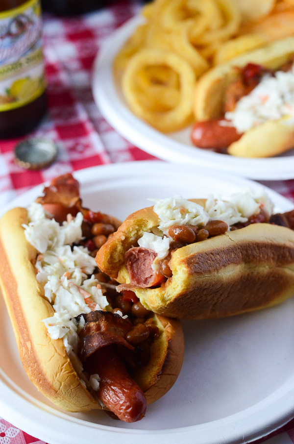 Bacon Wrapped Summer Bbq Hot Dogs
