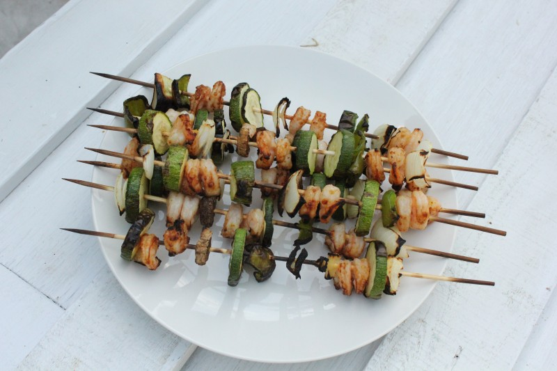 Simple Grilled Shrimp Kabobs