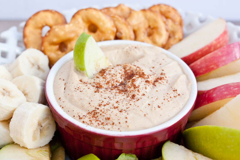 Peanut Butter Yogurt Dip - a delicious and quick anytime snack!