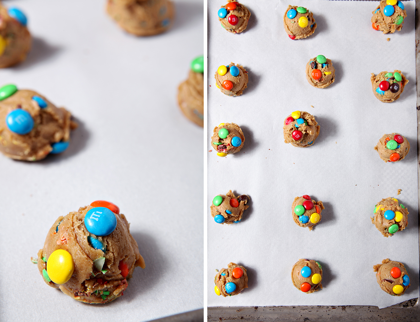 These M&M Cookies are the perfect dessert! The miniature sugar cookies are sweet, fluffy and chock full of plain M&M's. @speckledpalate for @mycookingspot