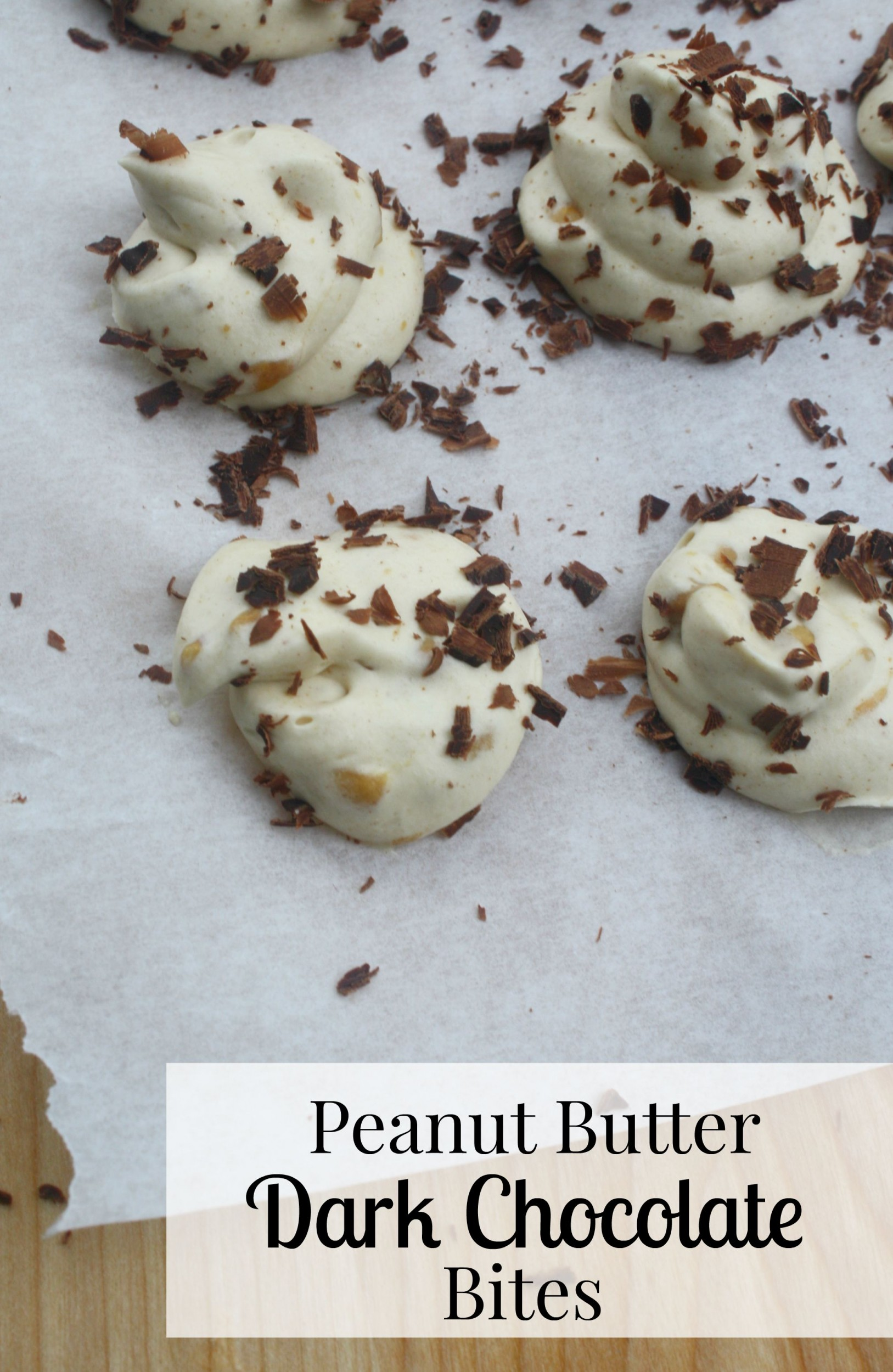 Peanut Butter Dark Chocolate Bites