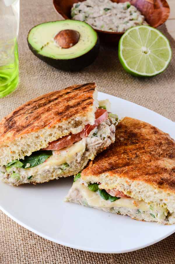 Spicy Tuna Avocado Panini Melt - creamy, spicy, melty goodness | Get ...