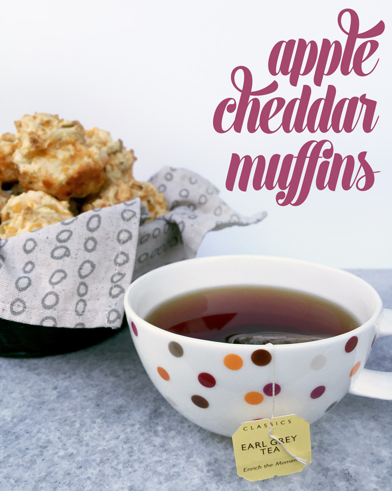 Apple Cheddar Muffins // Feast + West for My Cooking Spot