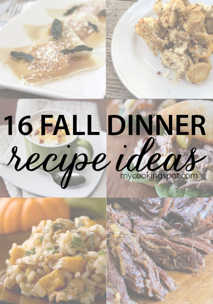 16 easy fall dinner recipe ideas using the best fall flavors!