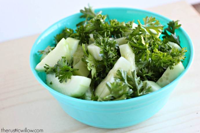 Parsley and Cucumber Salad