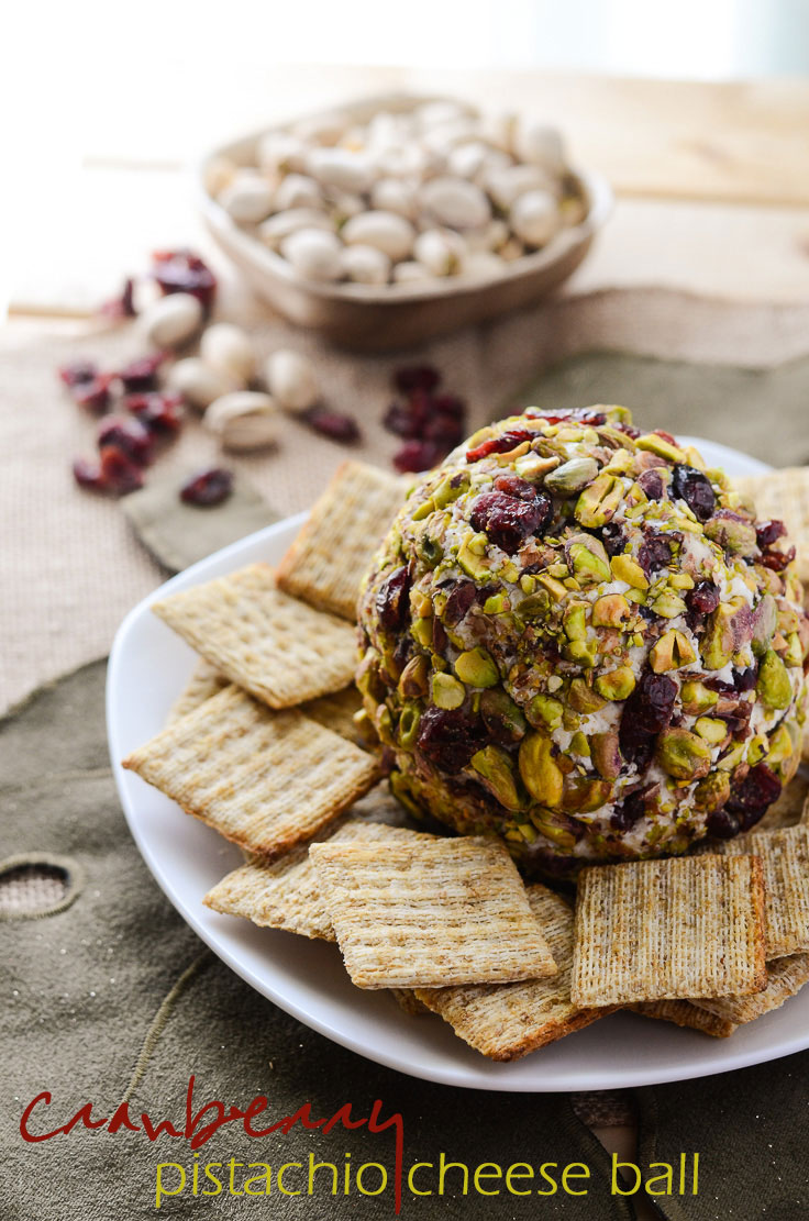 Cranberry Pistachio Cheese Ball - a perfect holiday appetizer | Get the recipe on MyCookingSpot.com!