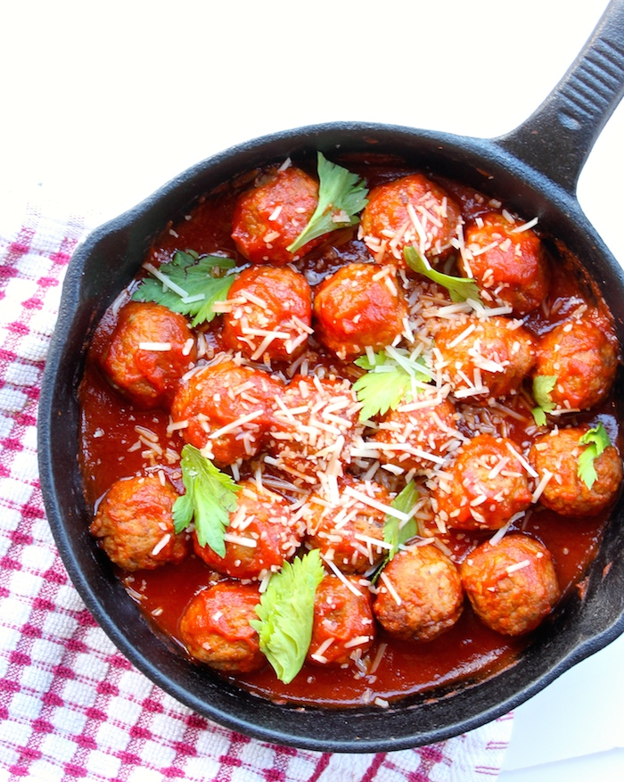 how to cook meatballs in a skillet