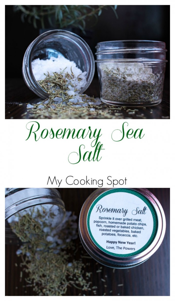 Rosemary Sea Salt - Pinterest - My Cooking Spot