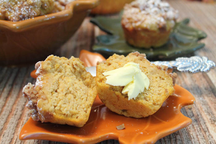 Sweet Potato Muffins with butter