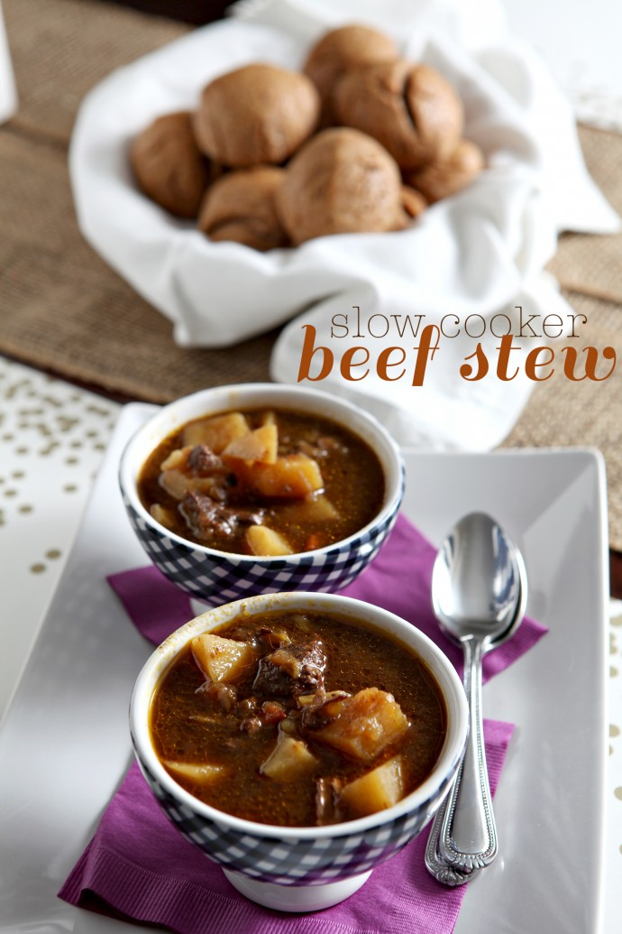 Hearty slow cooker meals are perfect for the chilly days ahead. This flavorful Slow Cooker Beef Stew is a household favorite and so easy to make for any weeknight meal!