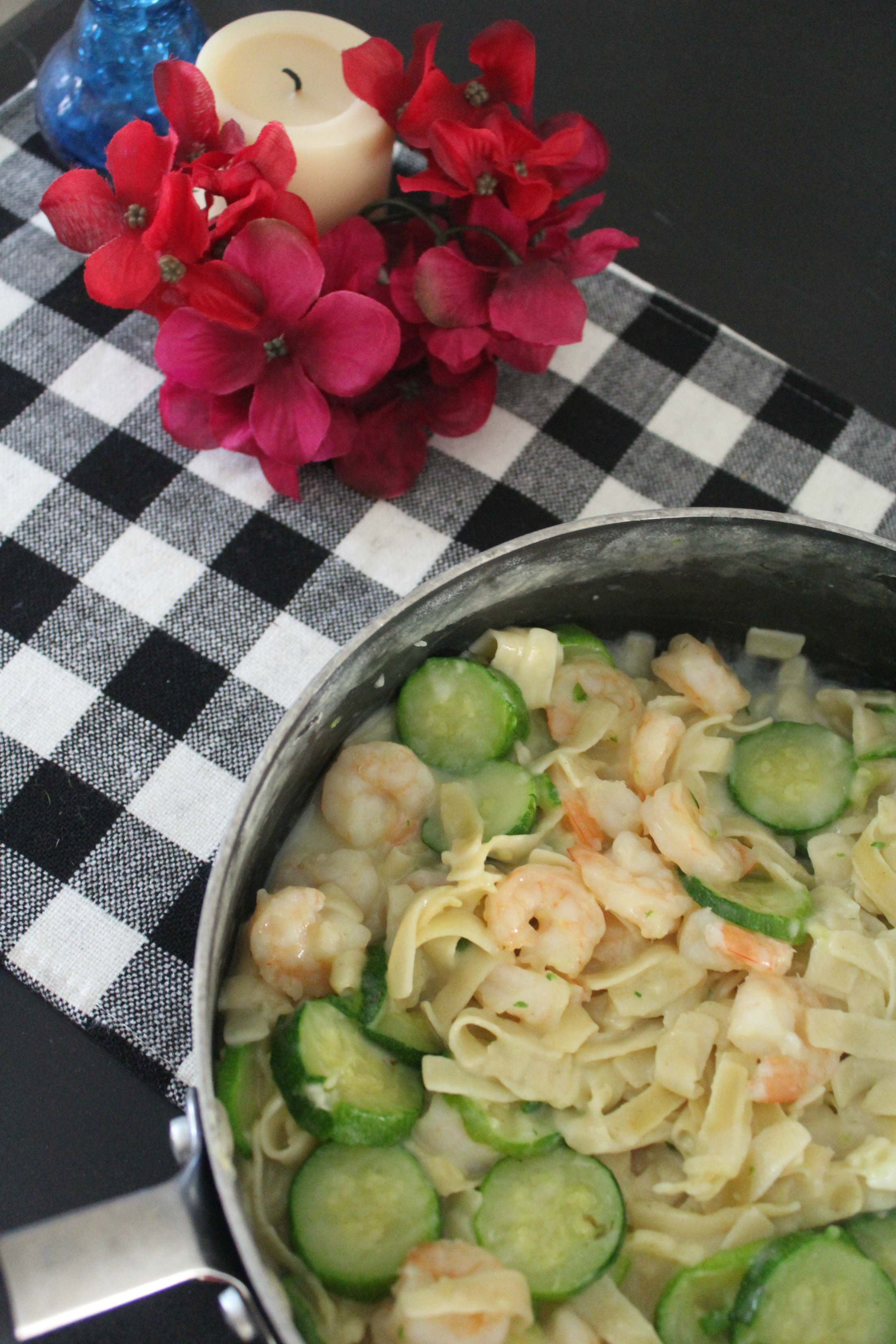 One Pot 30 minute Shrimp Alfredo