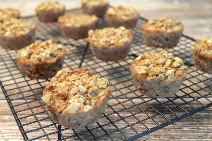 Banana Maple Oatmeal Cups cooling