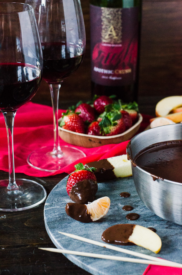 Easy Chocolate Fondue - Who says you need a fancy pot to have a fondue party?! | Get the recipe on MyCookingSpot.com!