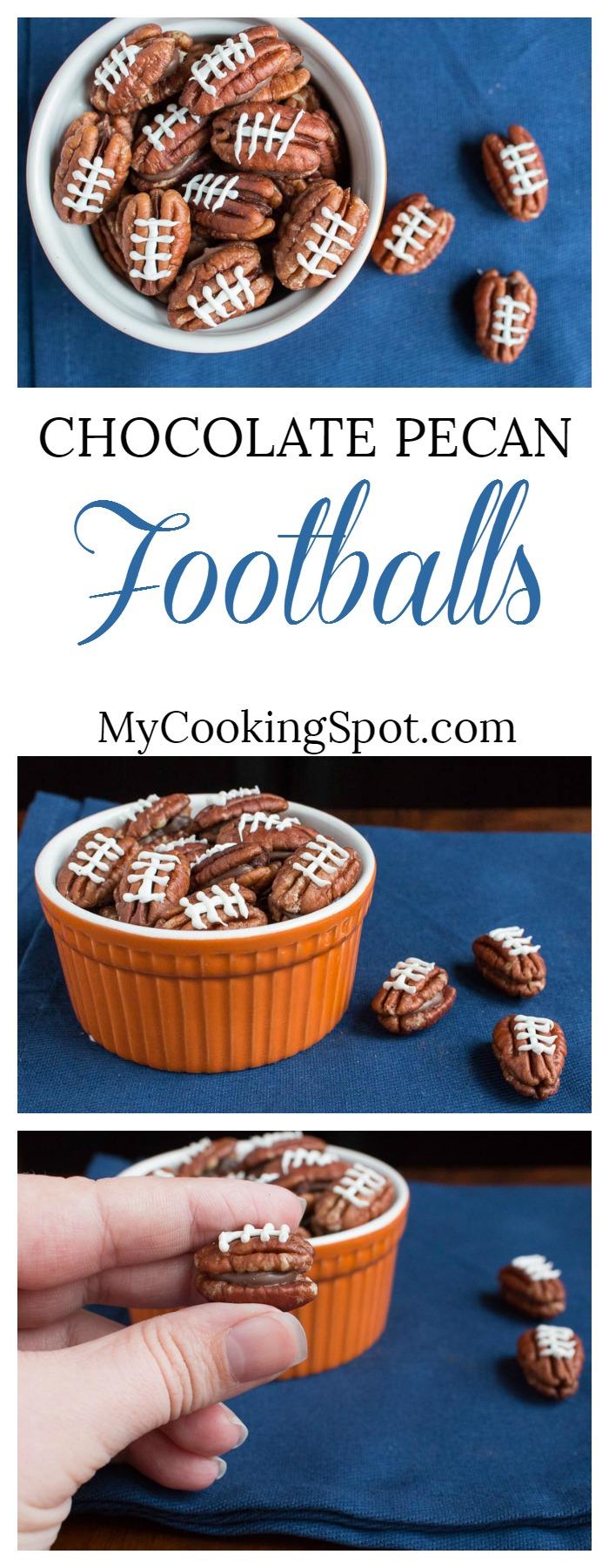 Pinterest - Chocolate Pecan Footballs