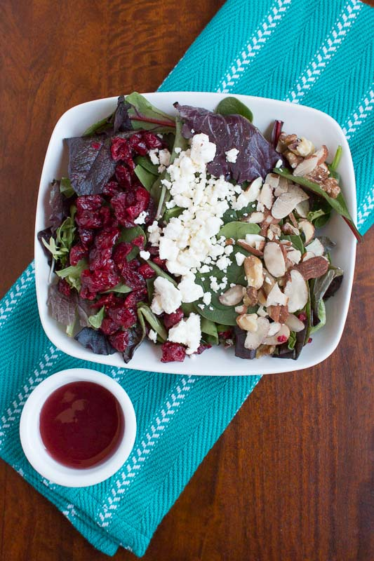 Cranberry Walnut Salad with Raspberry Vinaigrette - My Cooking Spot-1