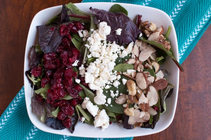 Cranberry Walnut Salad with Raspberry Vinaigrette - My Cooking Spot-2