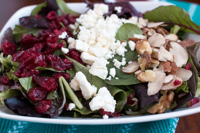 Cranberry Walnut Salad with Raspberry Vinaigrette - My Cooking Spot-3