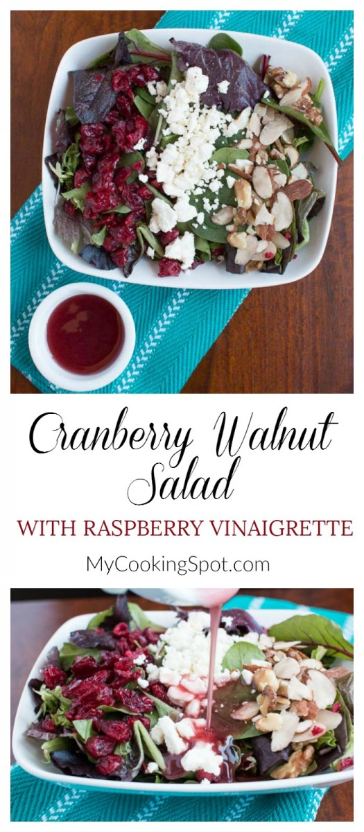 Pinterest - Cranberry Walnut Salad - My Cooking Spot