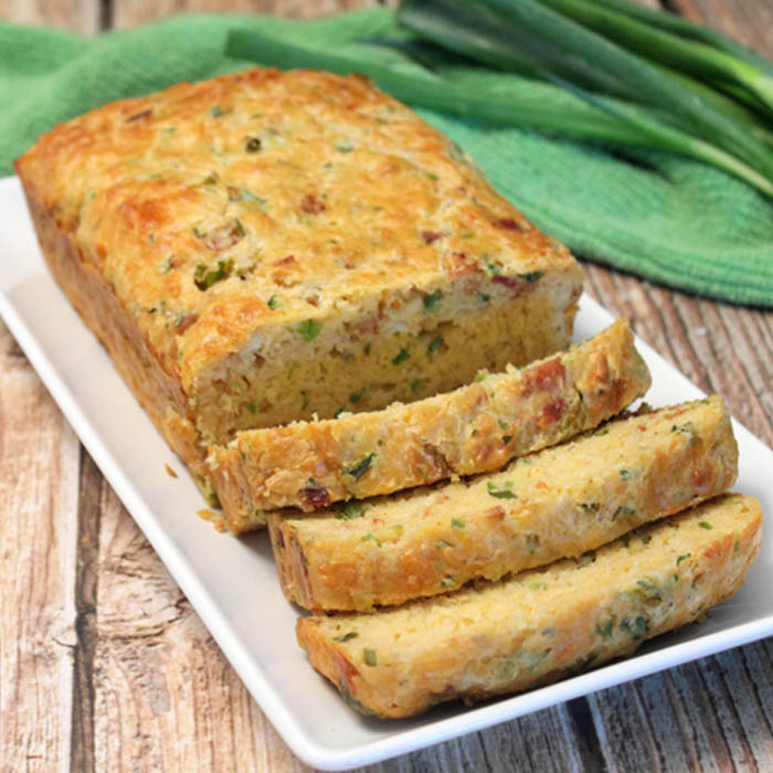Bacon Cheddar and Onion Quick Bread