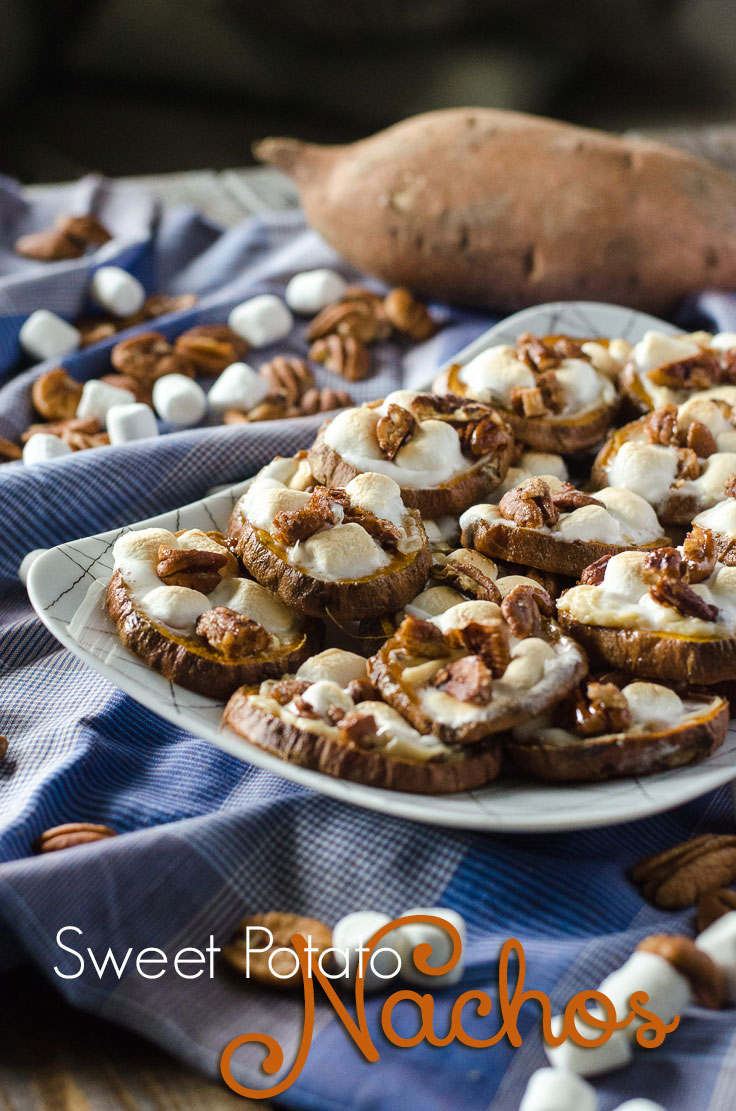 Sweet Potato Nachos | Loaded up like Thanksgiving, enjoyable all year round! Get the recipe on MyCookingSpot.com!