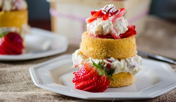 Tropical Bliss Strawberry Shortcake | A tropical twist on a classic shortcake! Get the recipe on MyCookingSpot.com!