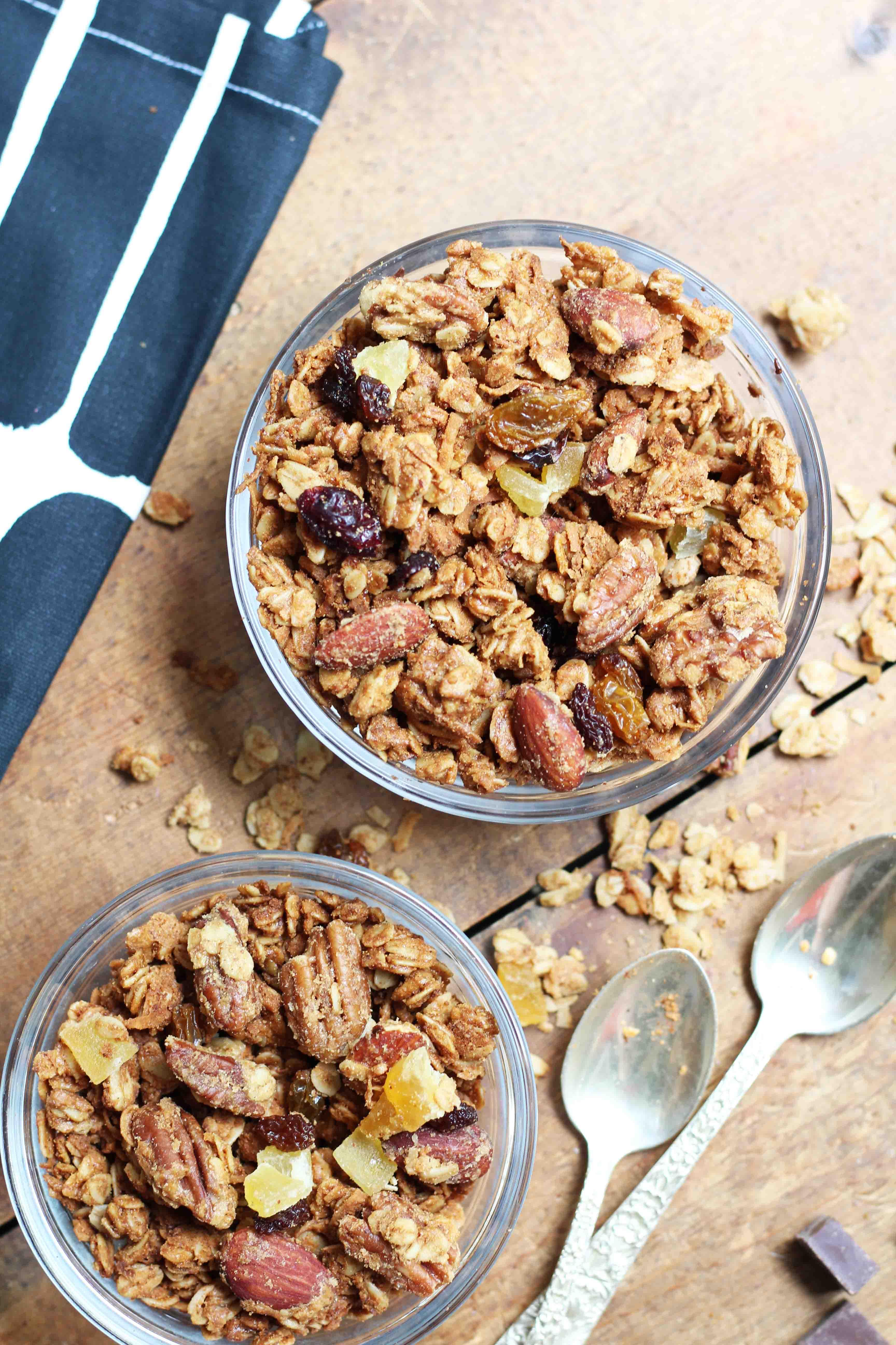 Coconut Almond Butter Granola