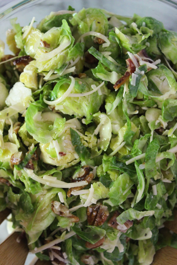 Lemon Dijon Brussels Sprouts Salad