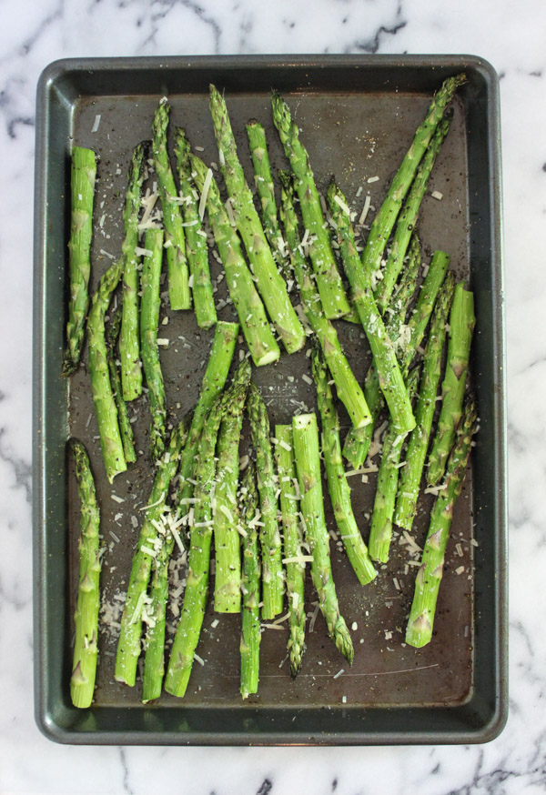 Lemon Garlic Parmesean Asparagus