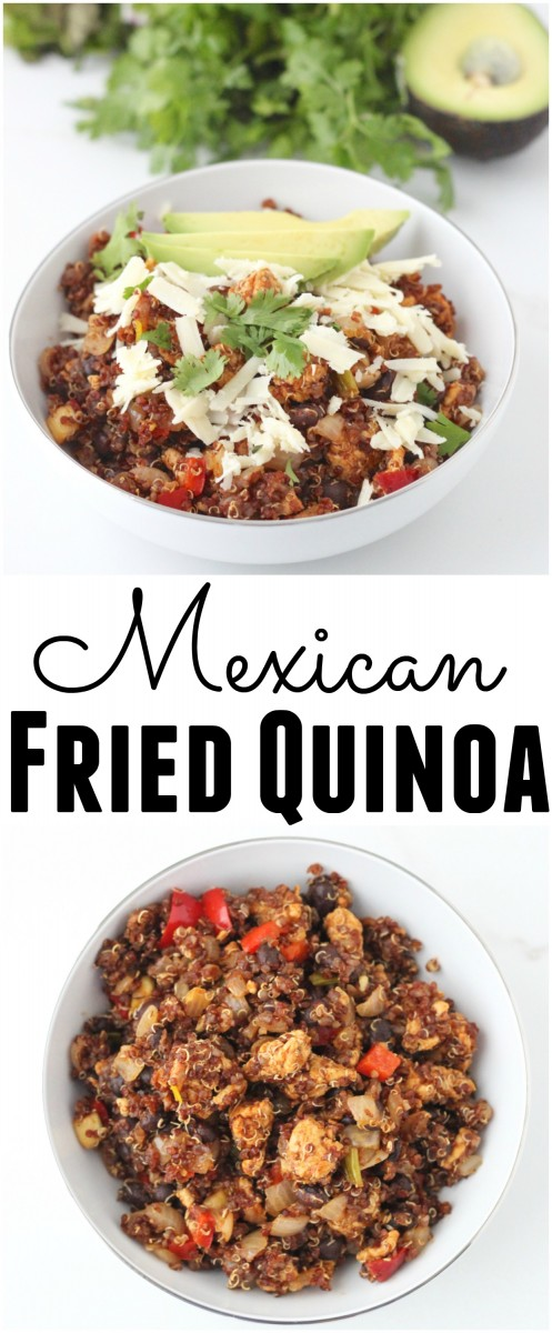 Mexican Fried Quinoais a different take on a great dish to use your leftovers