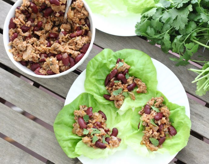 Salsa Turkey Lettuce Wraps are an easy, light and refreshing make-ahead lunch that are perfect for summer