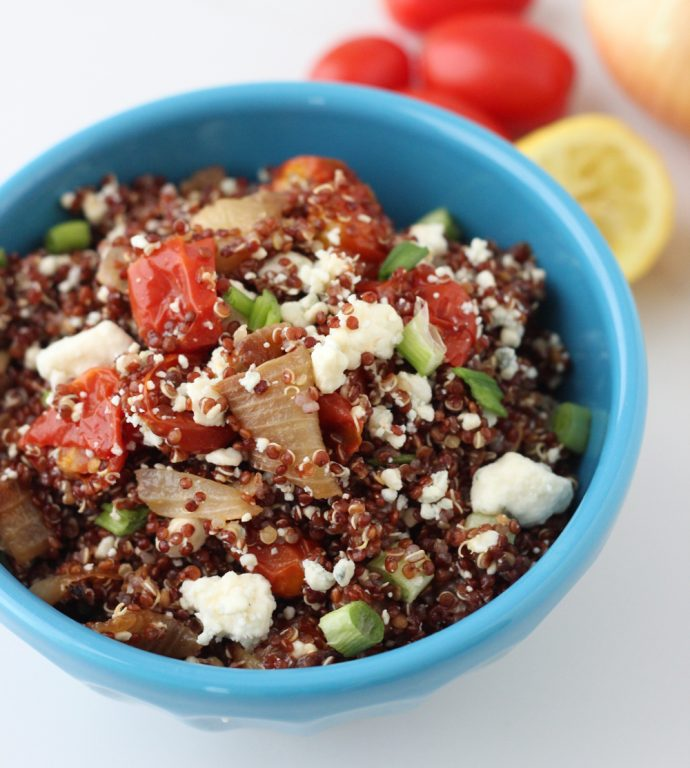 Roasted Vegetable and Blue Cheese Quinoa